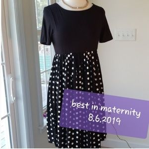 HP💜Kimi & Kai Maternity Polka Dot Emmy Midi Dress